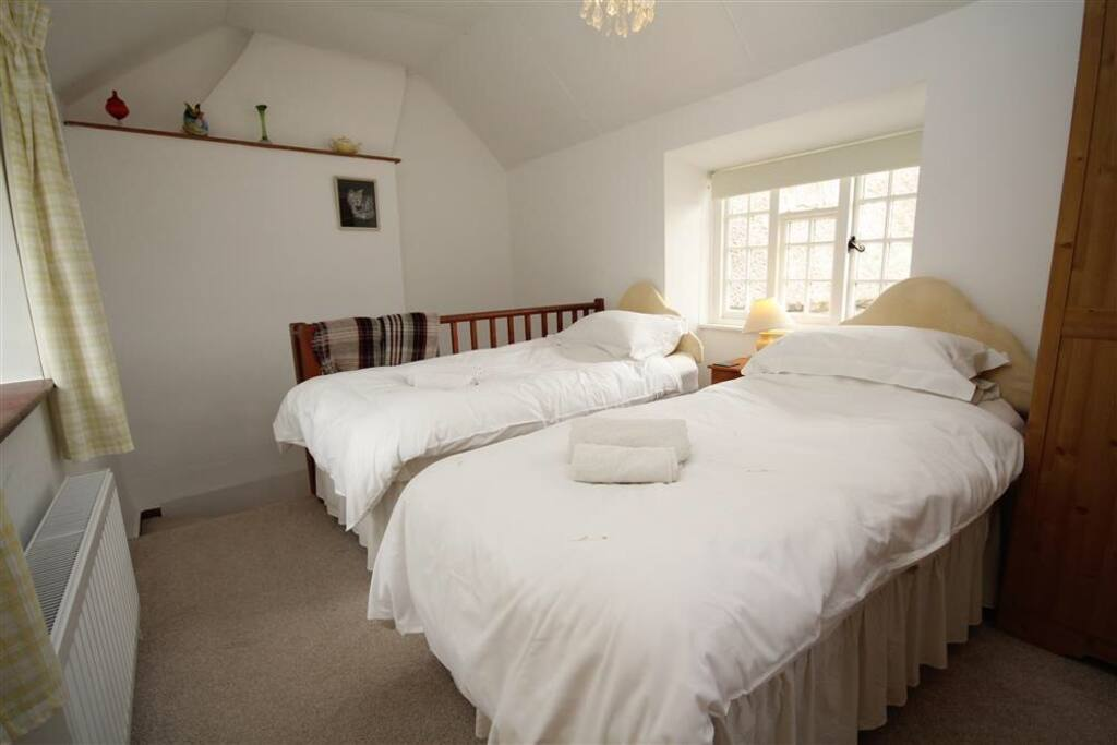 Double aspect galleried bedroom