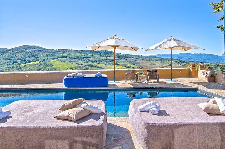 Villa Castiglione piscina panoramica