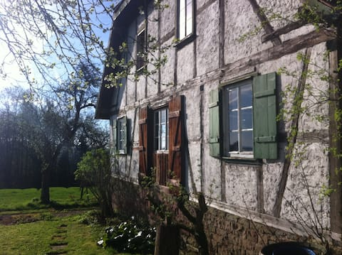 little romantic authentic hunting lodge