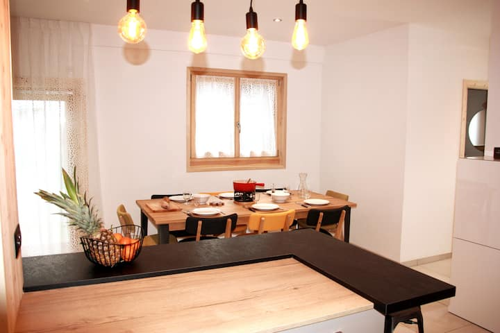 Grand appartement cozy 8 Pers Centre Morillon