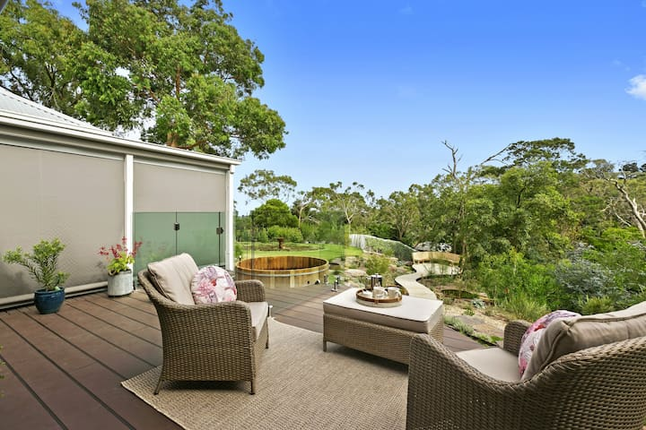Linger  on the patio with a glass of wine or  your choice of tea or coffee