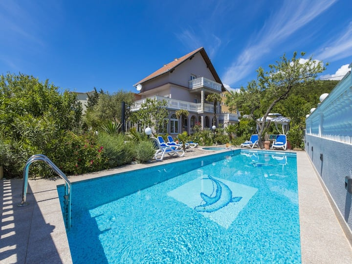 Six bedroom House, in Crikvenica, Outdoor pool