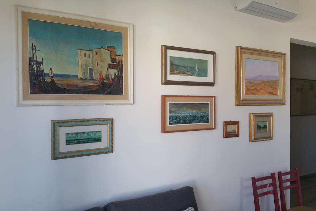 Salotto. Paintings from our family