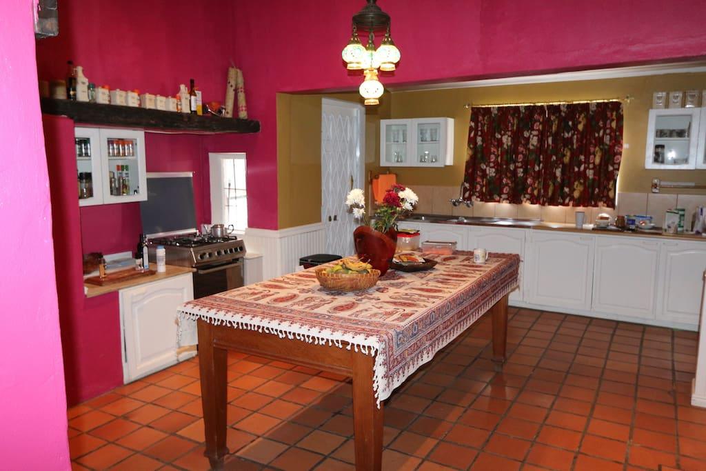 Kitchen seats 8