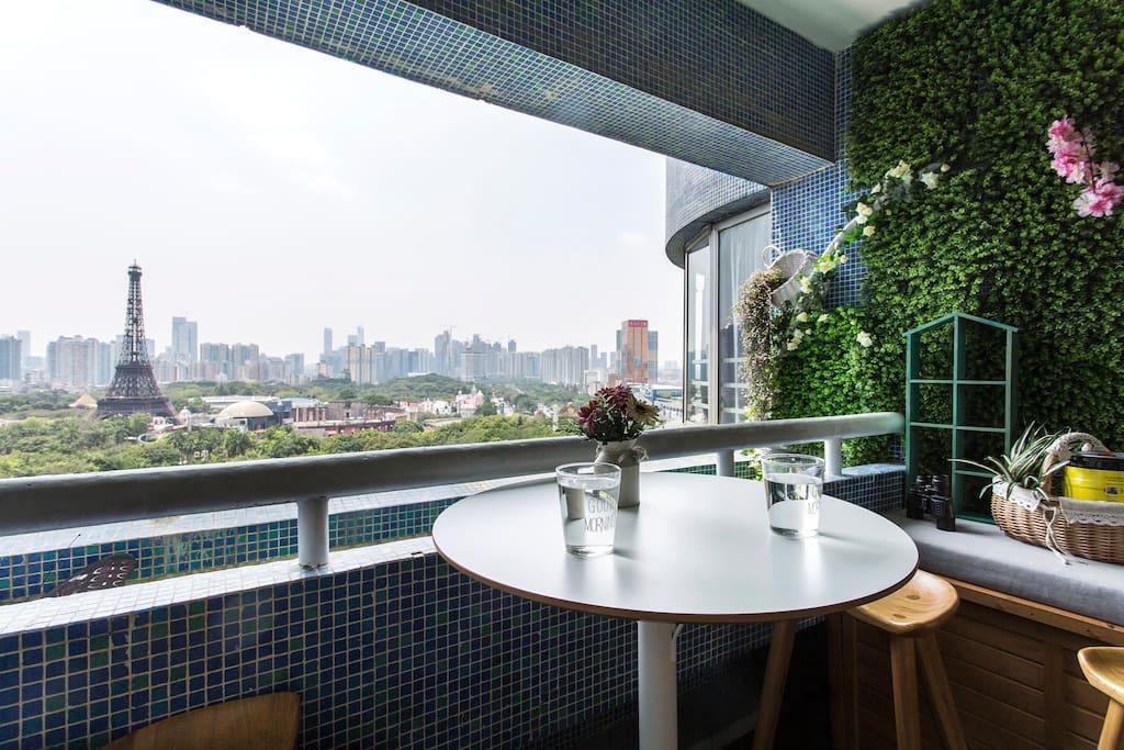阳台吧台景观