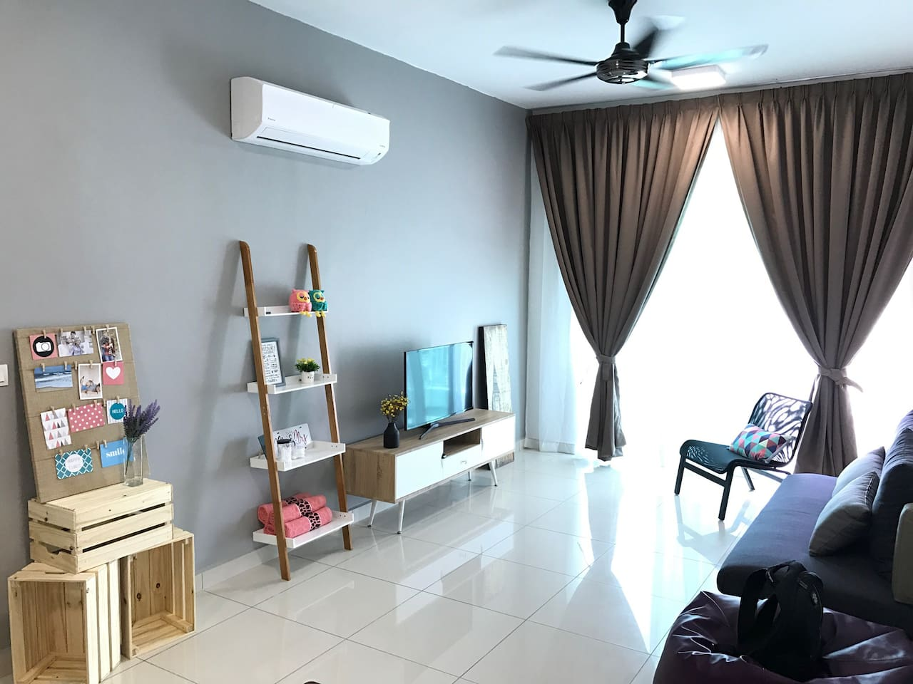 Air conditioned Spacious Living hall