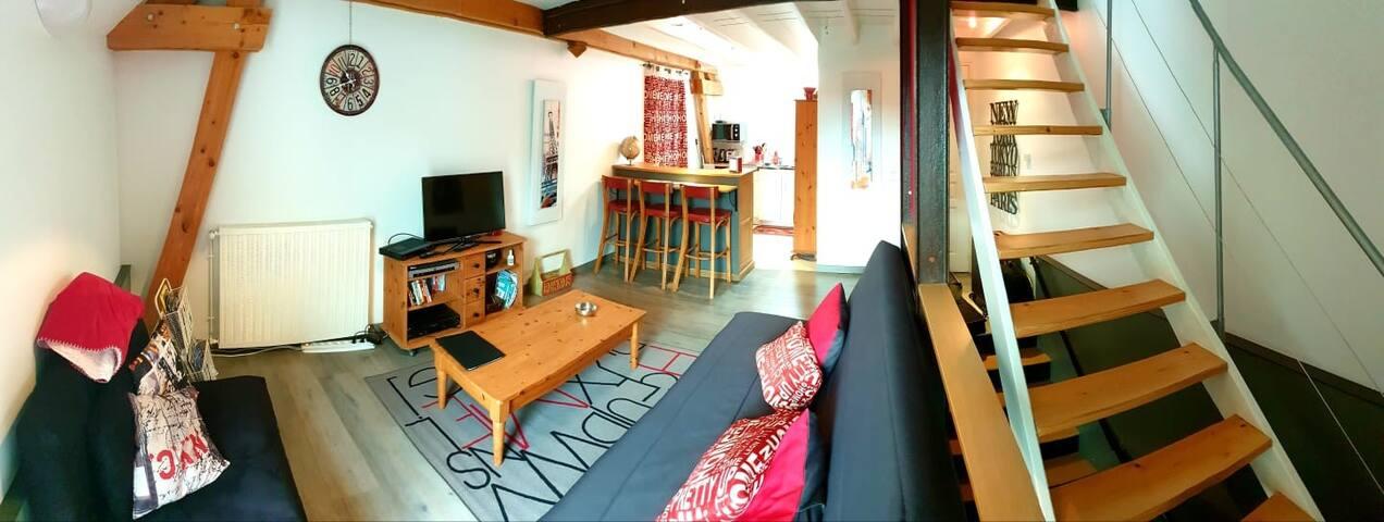 Appartement style loft proche Tours