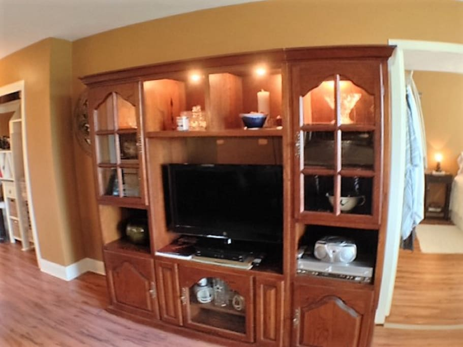 Entertainment Center with HDTV