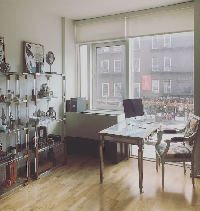 Workspace overlooks 10th ave. And creates a vibrant yet peaceful space to work from home.