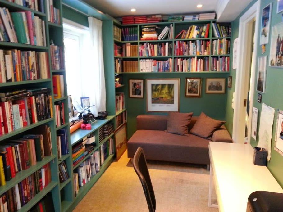 Et koselig bibliotek