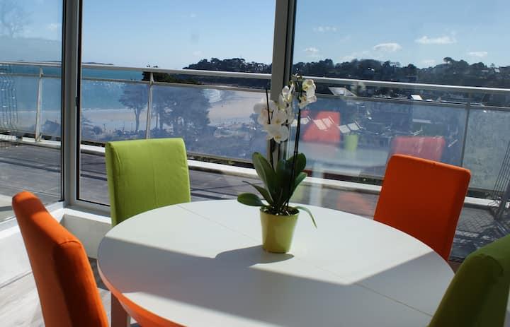 Appartement vue sur la mer et plage, Perros Guirec