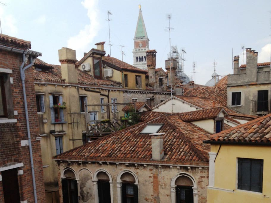 View of Saint Mark's Bell Tower (Campanile di San Marco) from the Terrace