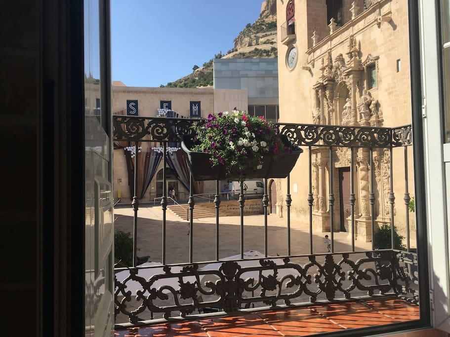 Desde el balcón.