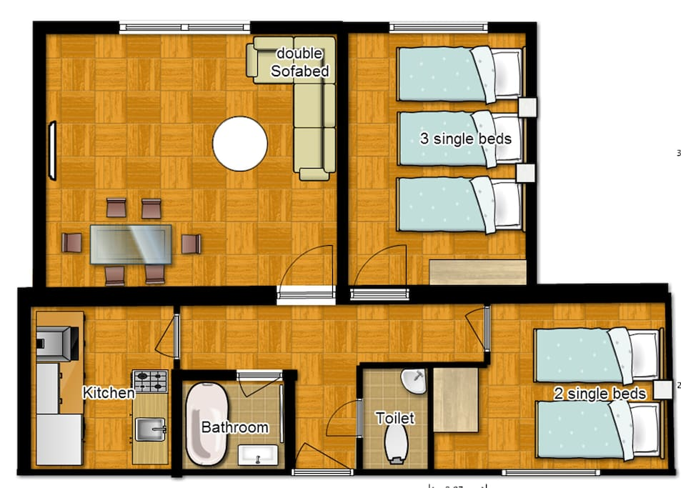 Central london 2 bedroom apartment apartments for rent for Apartment floor plans london