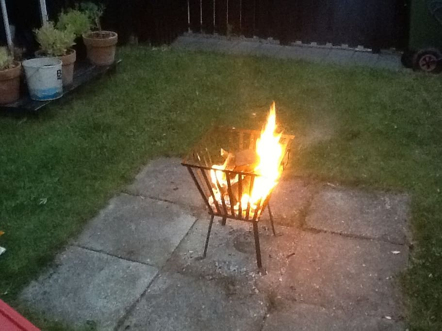 Bonefire in the garden