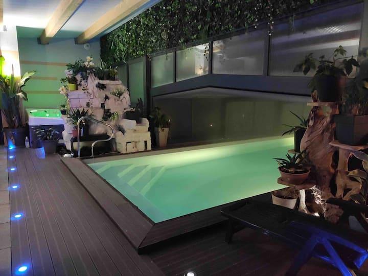 Chambre d'hôtes Déesse, piscine spa Désirad