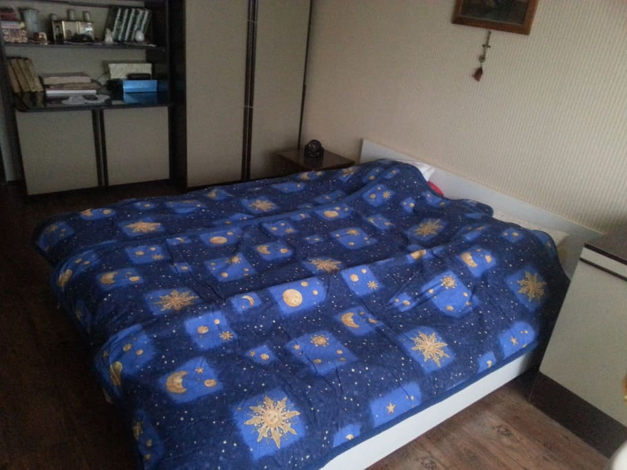 Room with double bed...