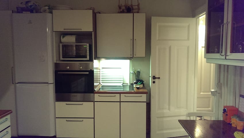 Kithchen with all appliances.