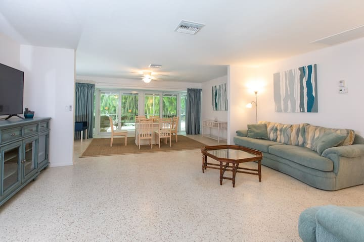 Pool Home Near Beach with Koi Pond on Sanibel | Dog-Friendly