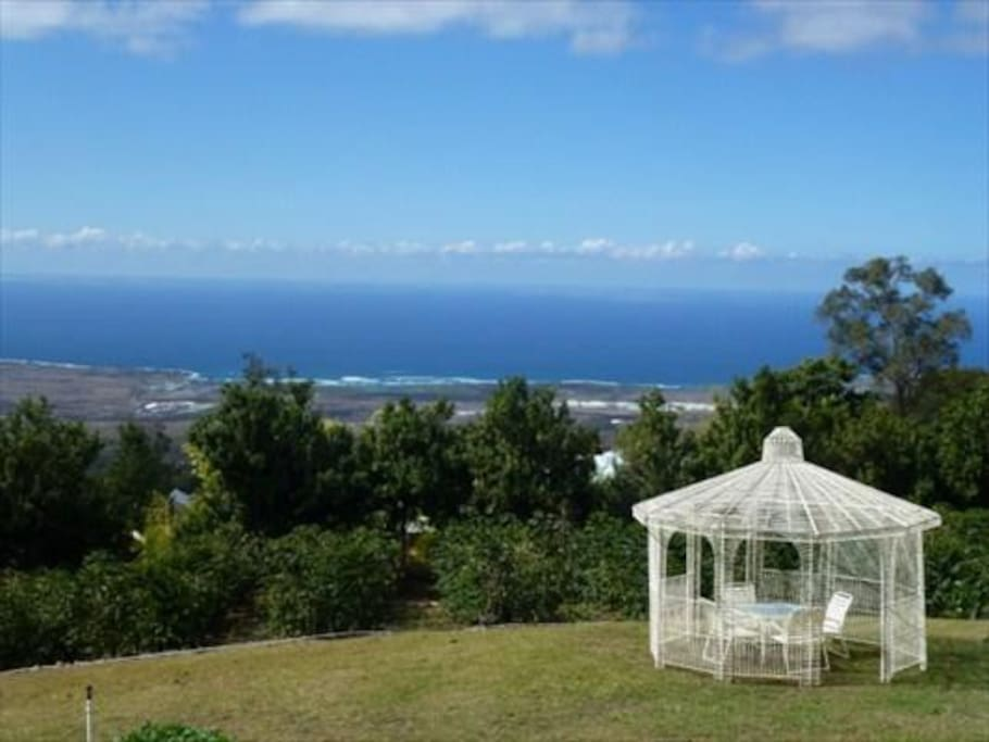 Spectacular Views from our mauka (mountain) coffee plantation.