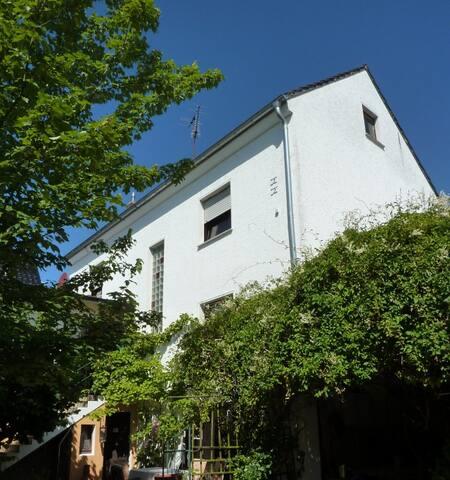 Das Haus vom Hof aus gesehen / the house seen from the yard / la casa vista dal cortile