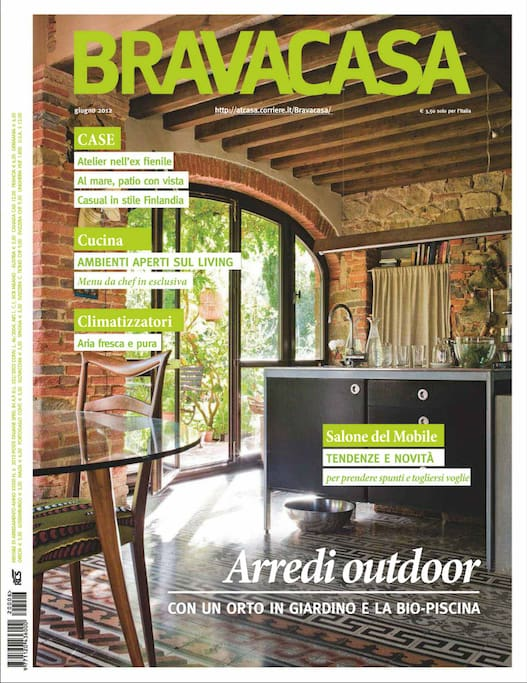 we made it ! - the cover of Brava Casa italian interior magazine