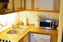 Küche mit allem was man braucht