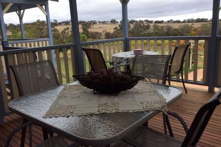 Vineyard/farm stay, view of the Stirling Ranges