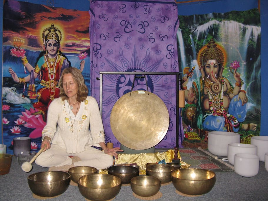 Private sacred sound studio on premises by appointment sound healing meditation sessions available for special guest pricing of $55