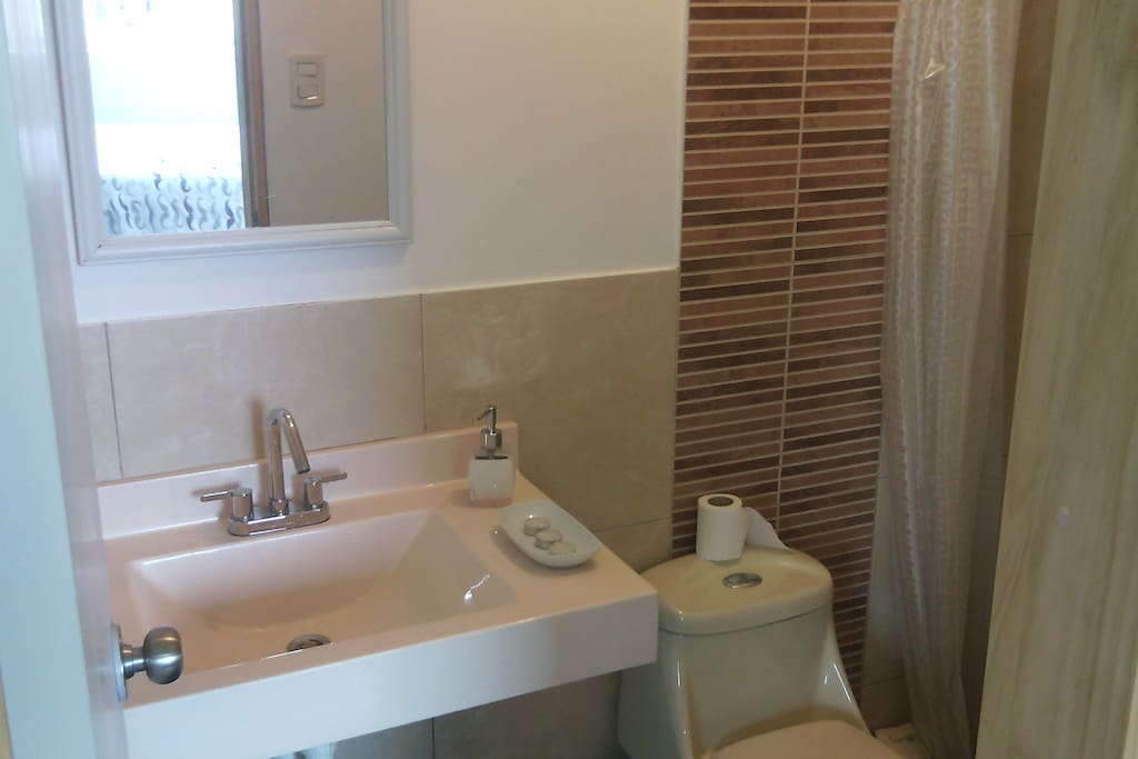 Complete Bathroom with Electric water heater.