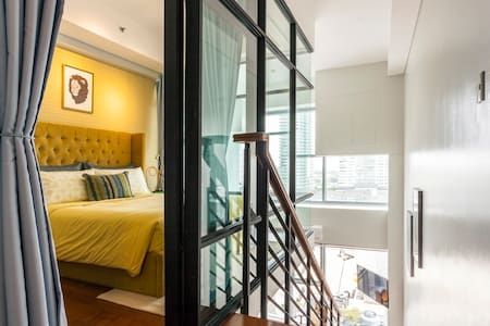 New! Sophisticated 1BR Greenbelt Loft w/ View! - Makati - Kondominium