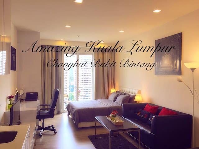 Cozy Studio+Balcony@KL Changkat #E1 - Kuala Lumpur - Flat