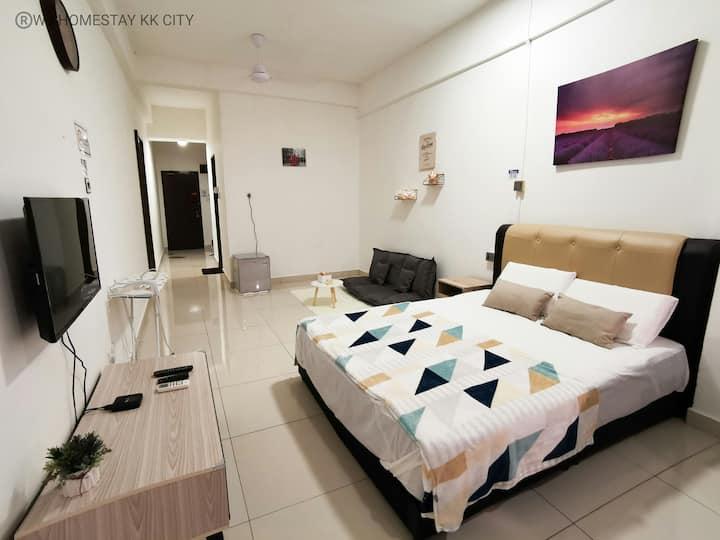 KK CITY WJ HOMESTAY STUDIO APARTMENT/舒适新装修一卧室公寓市中心