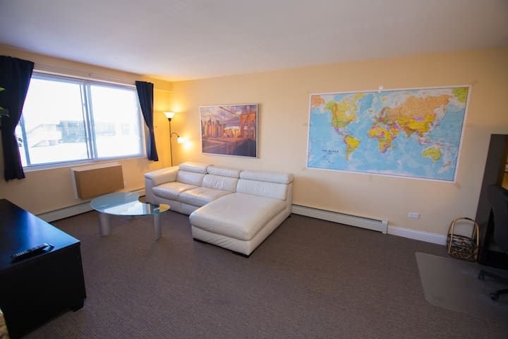 Comfy modern 1BR near O'hare. Free parking. - Chicago - Huoneisto
