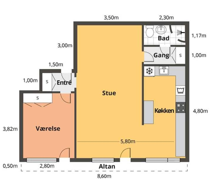 Spacious 2 room apartment
