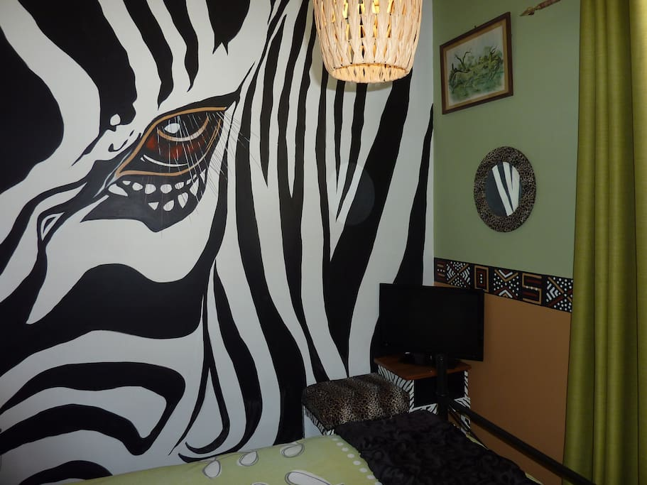 The zebra mare will look after you.