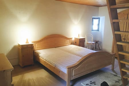 Big Double Room in typical house,10 km from Lugano - Bigorio - House