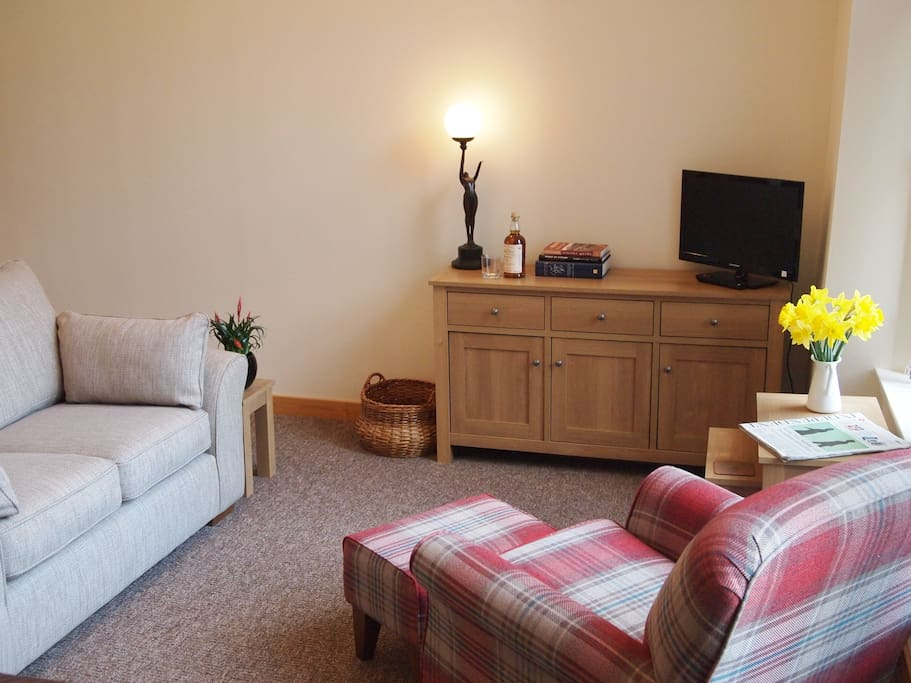 Comfortable seating area after your day of exploring.  TV with Freeview, digital radio and free WiFi throughout