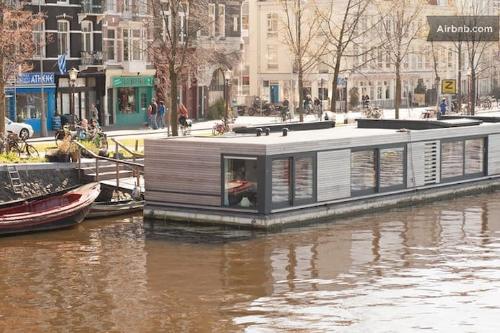 Villa on water bestview oase ofrest houses for rent in for Airbnb amsterdam houseboat