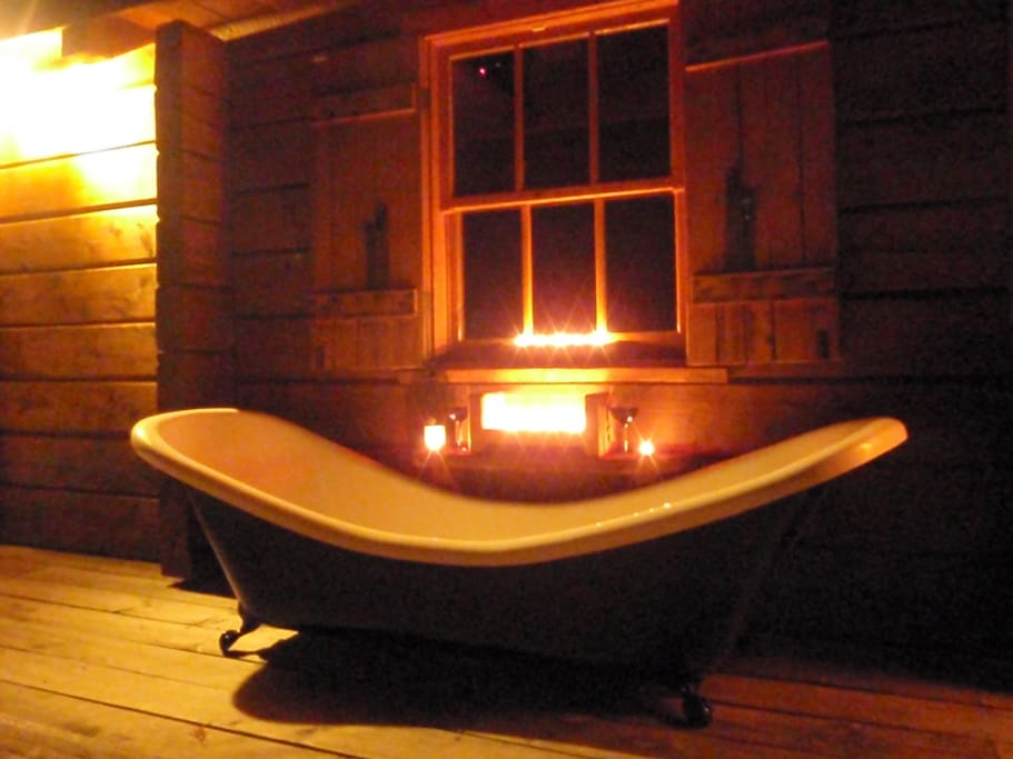 Double ended two person bath under the Stars!