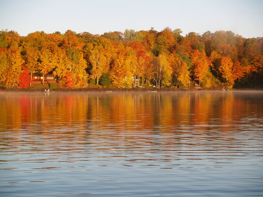 Fall view of the lake -- taken in early October