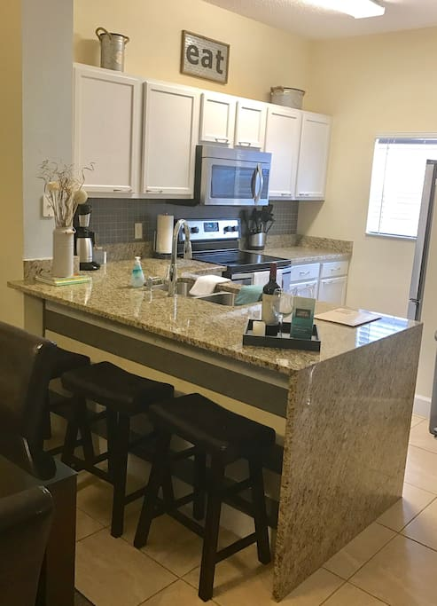 Fully loaded, upgraded kitchen with granite counter top and stainless steal appliances...just add ingredients for a perfect recipe :)