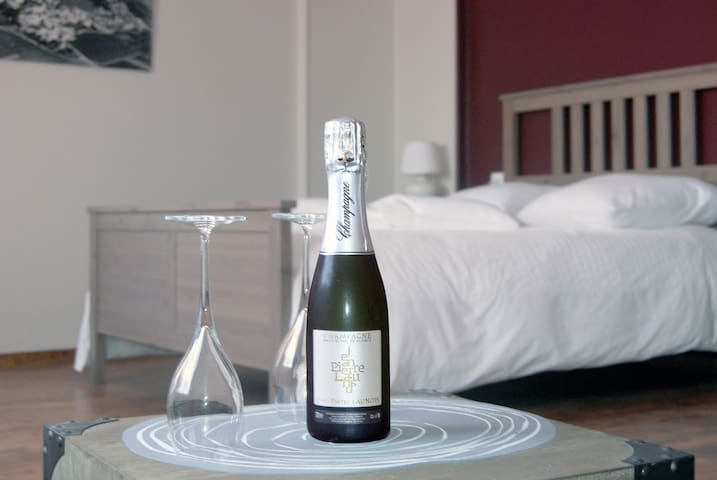Les cépages-Chambre Pinot Noir in our winery - Le Mesnil-sur-Oger - Bed & Breakfast