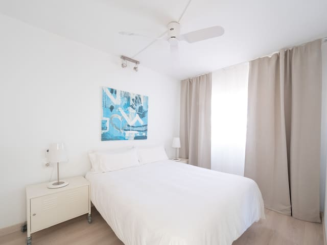 bedroom with wardroves and hi security safe