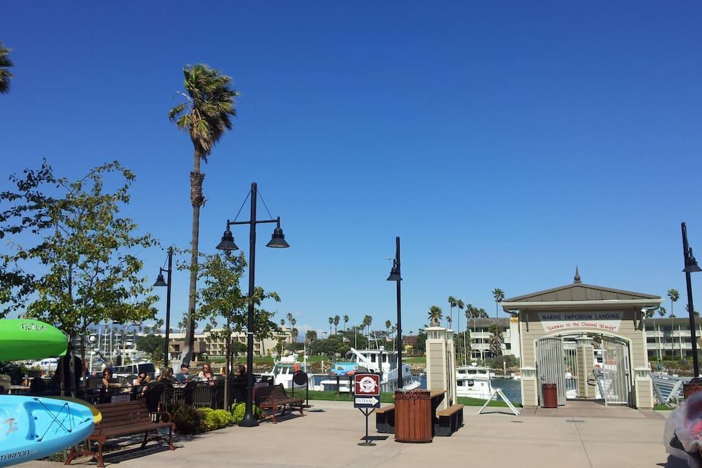 walk to local marina