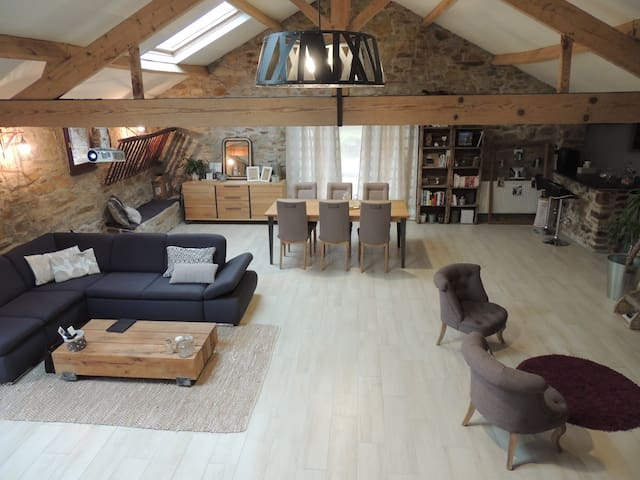 Grande maison de campagne restaurée - Frossay - Hus