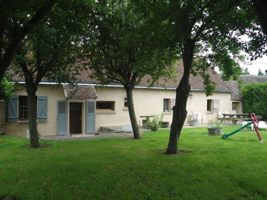 Espace vert clos de 650 m².