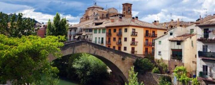 Entire apartment with stunning views in Navarre.