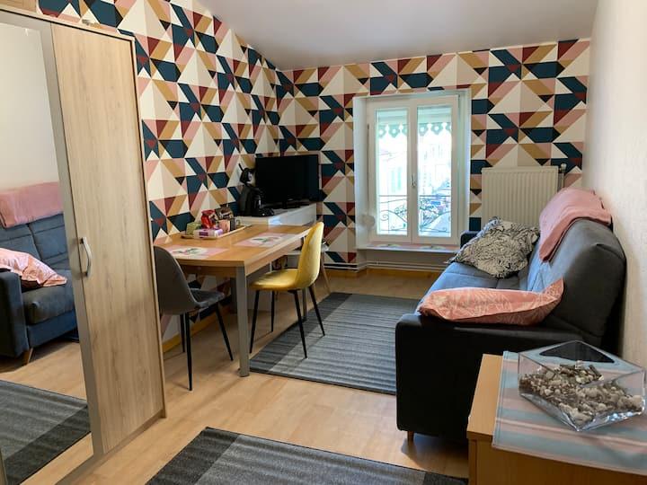 Studio tout équipé esprit scandinave
