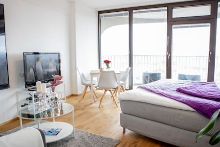 Bright apartment with great view over the city